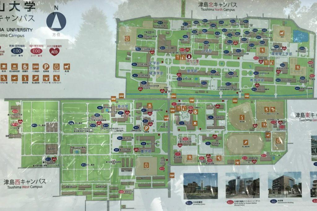 岡大津島キャンパス案内図