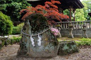 亀頭石ー阿智神社本殿西ー
