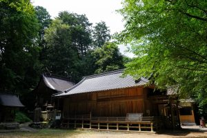 本殿・拝殿ー宗形神社 是里ー