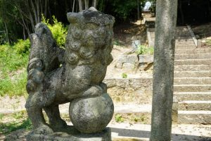 狛犬 吽形ー阿宗神社ー