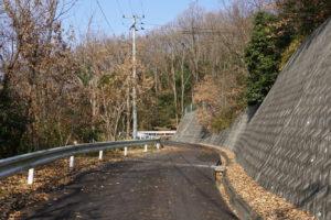 皷山登山道(東側)