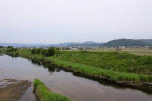 高松城水攻め跡方面ー日幡城跡よりー