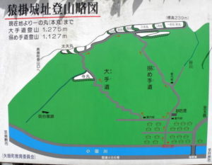 猿掛城跡案内図-1
