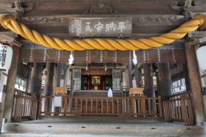 吉備津神社 拝殿-2