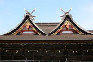 吉備津神社 本殿屋根