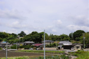 天神宮と周辺の集落