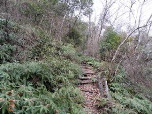 猿掛城跡登山道