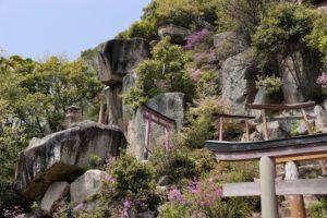 題目岩付近の巨石群