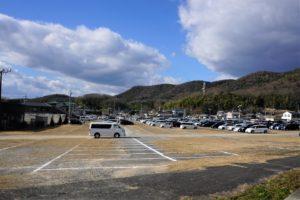 正月の最上稲荷 駐車場