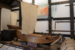 北前船(千石船)の模型
