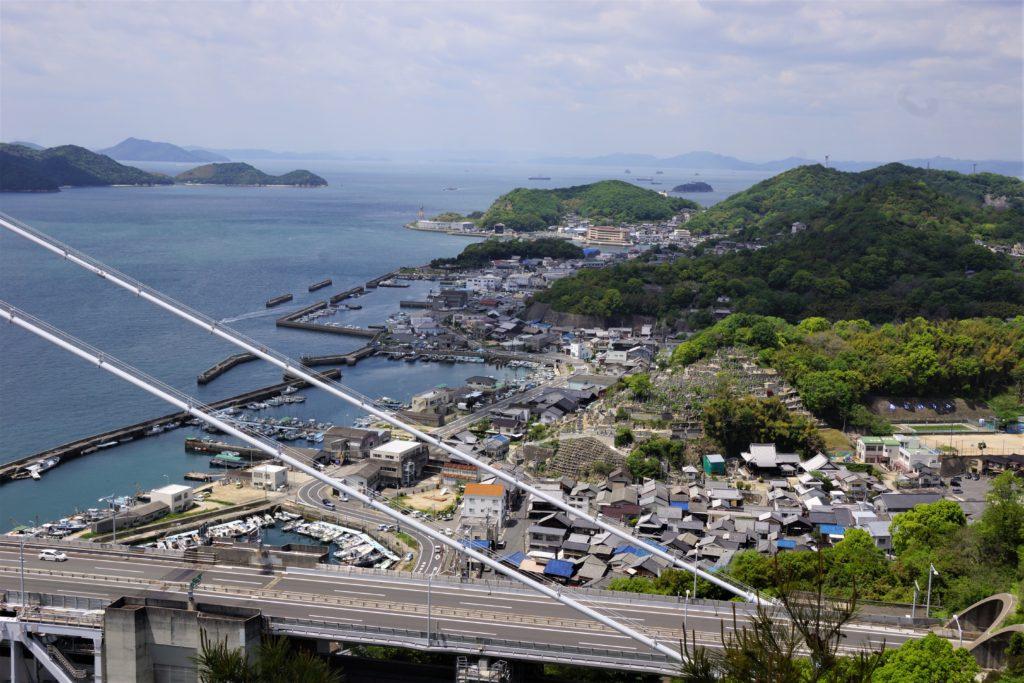 下津井港ー鷲羽山よりー