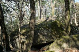 八畳岩上面(横より)