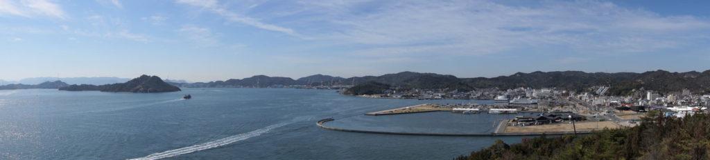 高辺山より宇野港方面ーパノラマー