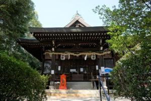 川入八幡宮 拝殿