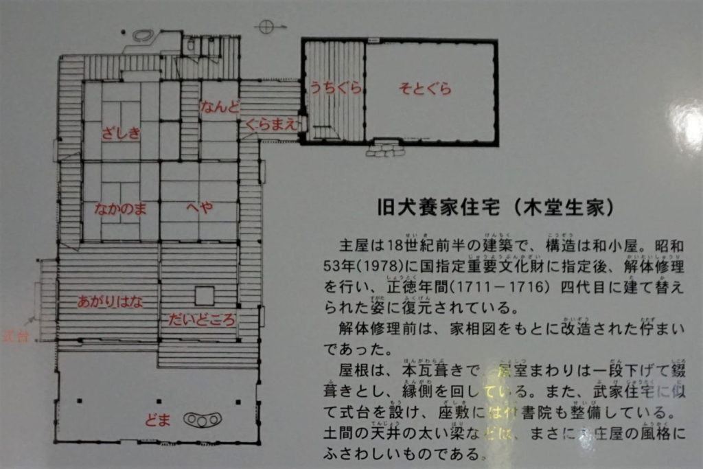 旧犬養家住宅 間取図