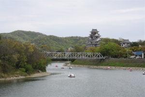旭川と岡山城