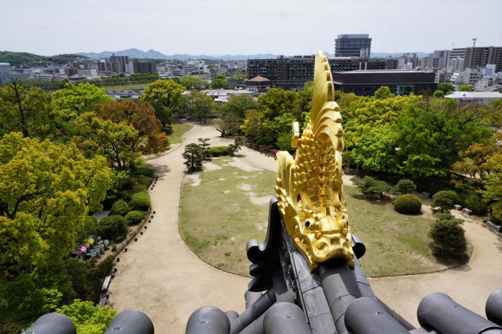 岡山城 本丸 本段方面
