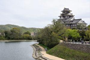 岡山城と旭川ー北西方向よりー