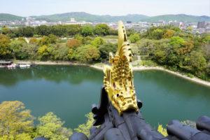 岡山城 天守閣からの眺め