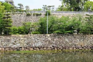 油蔵櫓跡(内堀側より)