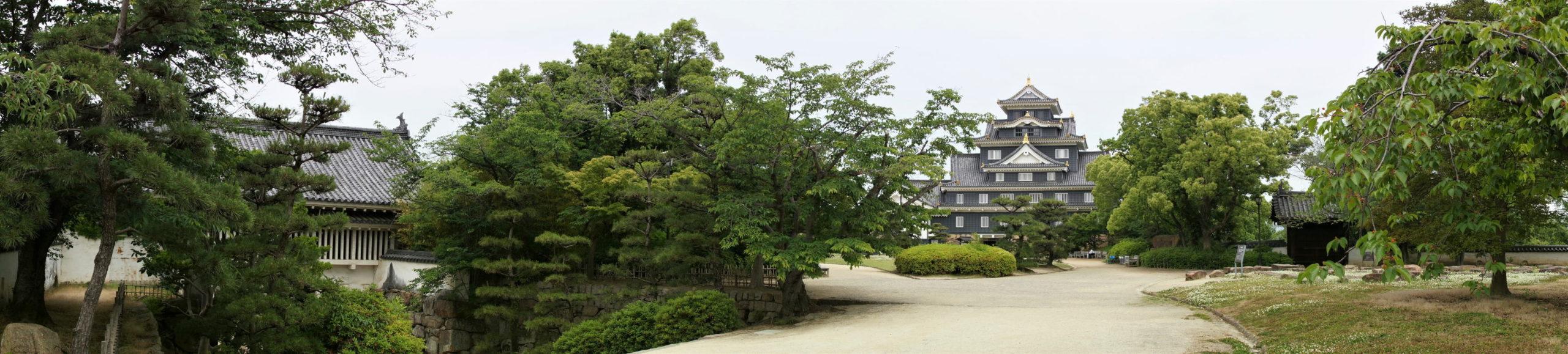 岡山城 本丸 本段 パノラマ