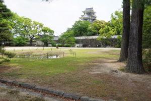岡山城 天守閣・中の段ー伊部櫓跡よりー