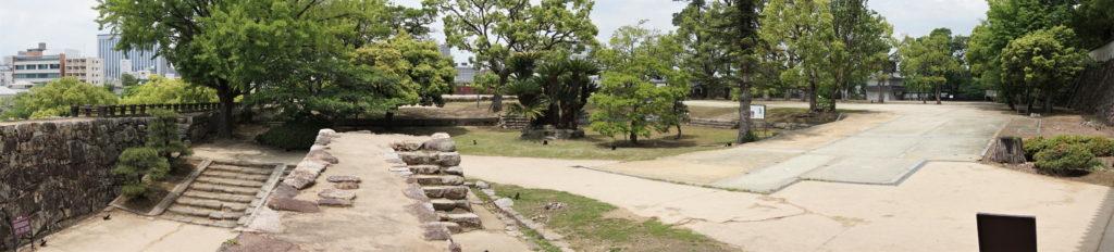 岡山城 表書院(中の段)パノラマー不明門前よりー