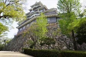 岡山城 天守台の石垣