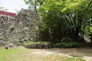 大納戸櫓台の石垣ー西面ー