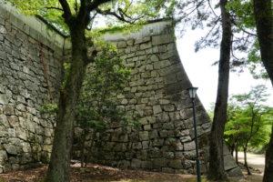 数寄方櫓台の石垣ー北面ー
