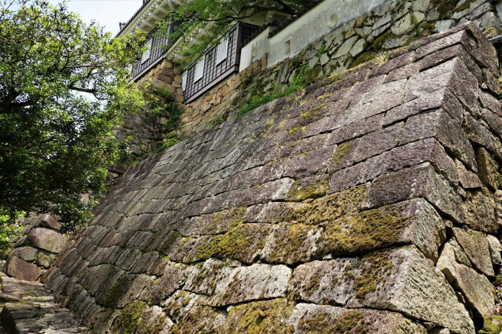 岡山城 塩蔵下の石垣