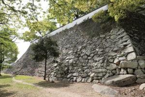 岡山城 本段南東の高石垣