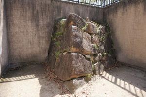 宇喜多秀家築城当時の石垣-2