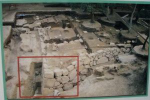 石垣発掘時の写真
