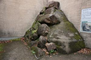 宇喜多秀家築城当時の石垣ー中の段西面ー